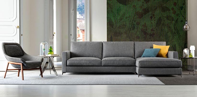Новый диван Джимми с высокими металлическими ножками berto salotti Collection
