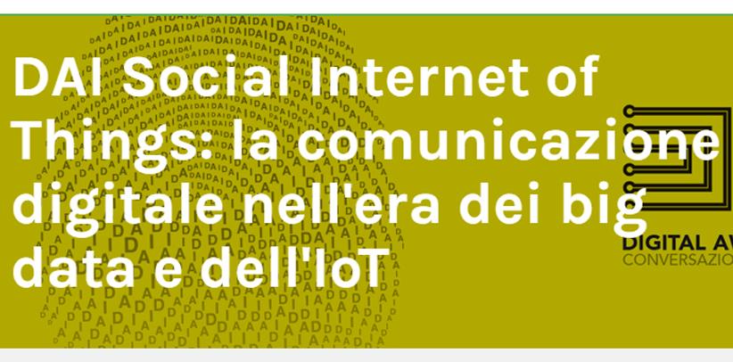 Филиппо Берто участвует в симпозиуме Big data e Iot ( Биг дата и Лот) в Милане