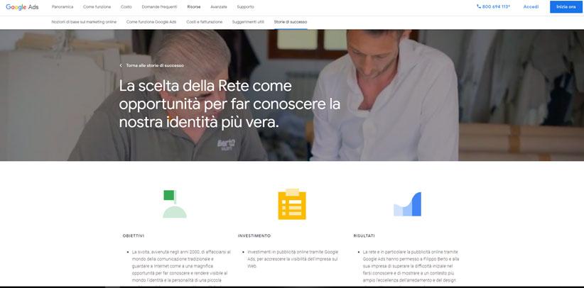 БертО итальянский случай для изучения по мнению Гугла