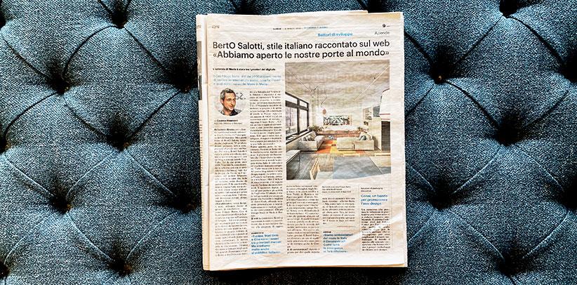 Интервью с Филиппо Берто в Il Giorno