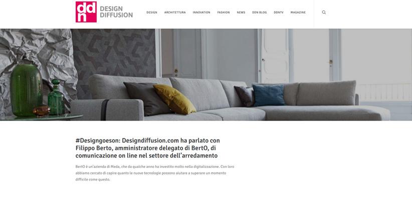 Дизайн и новые технологии: интервью с Филиппо Берто DDN