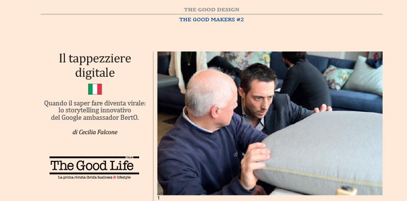Филиппо Берто самый авторитетный цифровой обойщик в Италии по мнению журнала TheGood Life Italia