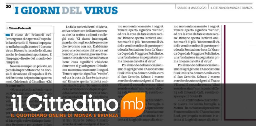 Соревнование солидарности БертО в газете Читтадино Монцы и Брианцы