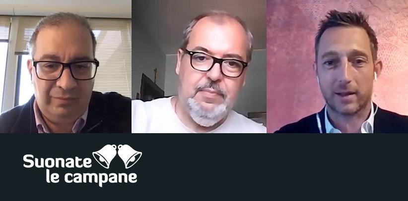 Филиппо Берто участвует в одной их передач Suonate Le Campane