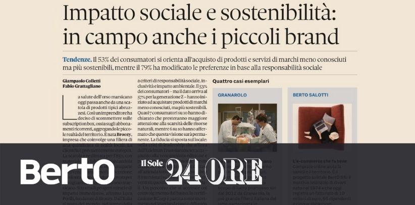 БертО в il Sole 24 Ore: образцовый случай социальной ответственности